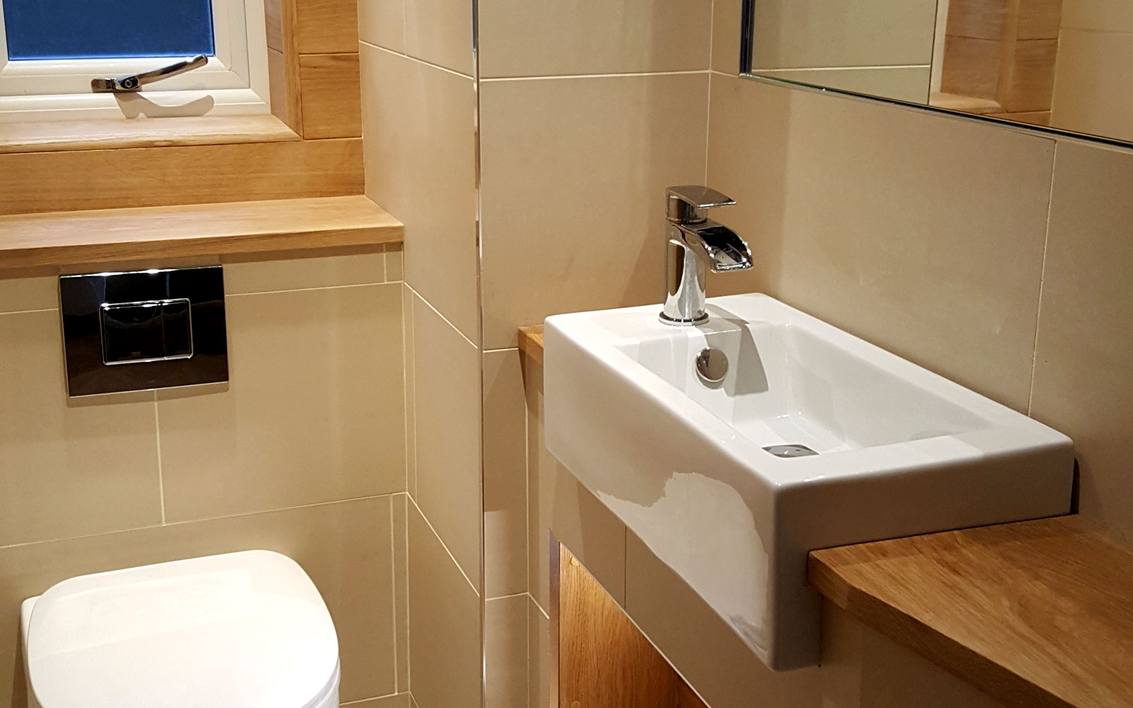 Bathroom installations for architecture and interior design companies, bathroom stores and house owners.