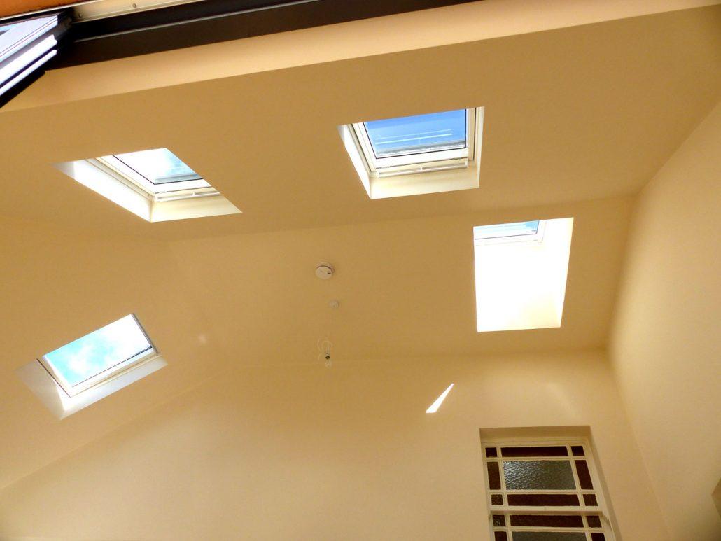 Multiple Velux windows installed in Ravelston.