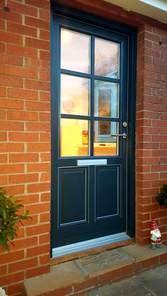 'Rationel' front door fitted to Ravelston home.