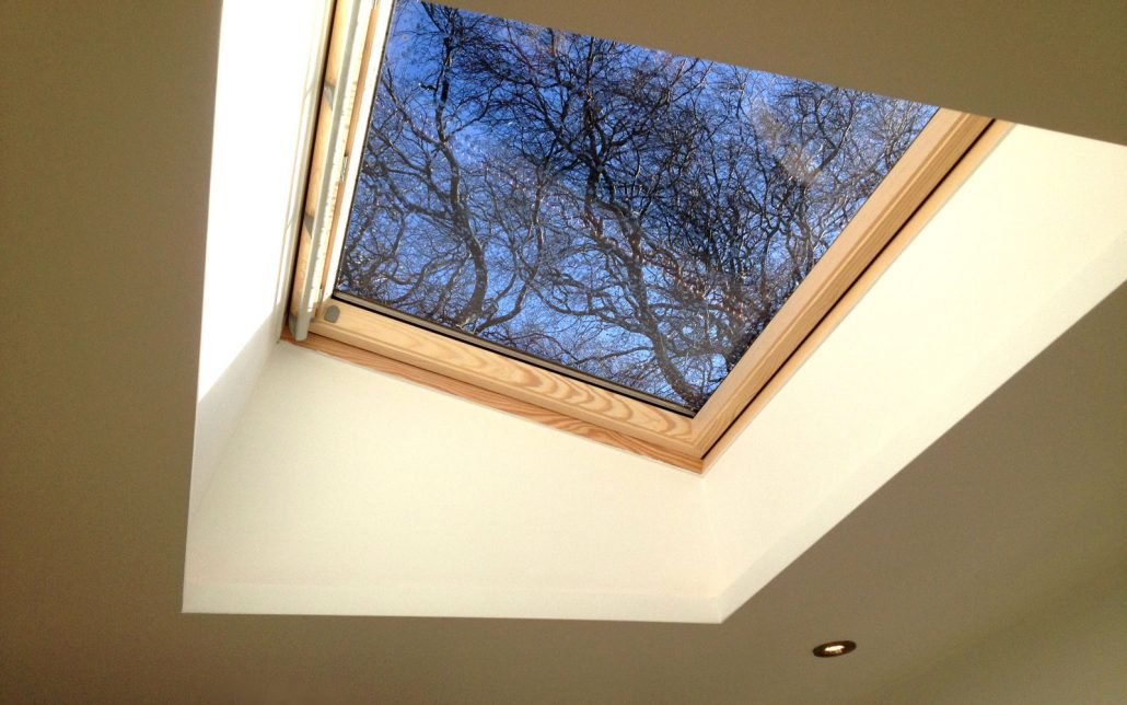 Velux roof light with feature lighting in The Grange, Edinburgh.