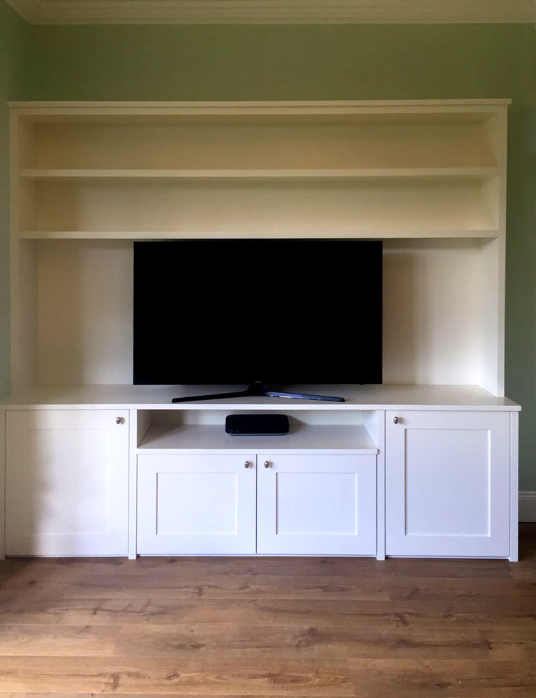 Bespoke TV unit in Cramond, Scotland.