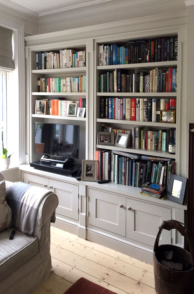 Bespoke bookcase in The Grange, Edinburgh.